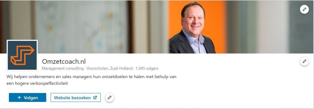 LinkedIn bedrijfsprofiel Omzetcoach.nl